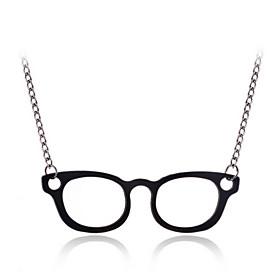 Fashion Glass Pendant Necklace(More Colors) 796665