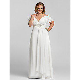 Plus Size Sheath/Column Spaghetti Straps Chiffon Evening/Prom Dress