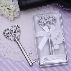 "Simply Elegant"" Key To My Heart Bottle Opener"