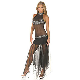 Women's Rhinestone Sheer Dress