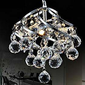 9W LED 26cm Crystal Pendant Light Chandelier Lamp For Living-Room Dining Room