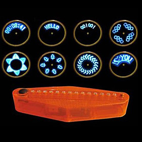 14 LED 40 Design Patterns Bike Bicycle Wheel Spoke Light