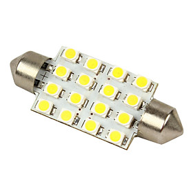 Merdia White 16-SMD 12V Festoon Dome Light LED Bulbs 211-2 212-2 569 578 - White (2pcs)-LEDD002B16