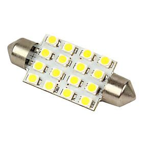 Merdia White 16-SMD 12V Festoon Dome Light LED Bulbs 211-2 212-2 569 578 - White (2pcs)-LEDD002B16