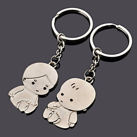Baby Shower / Birthday Party Favors Gifts-12Piece/Set Keychain Favors Personalized Silver