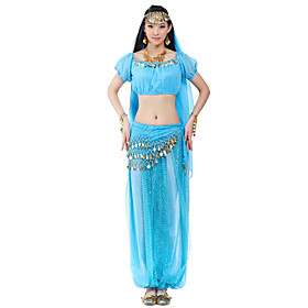 Brilliant Performance Chiffon Belly Dance Outfits For Ladies(More Colors)