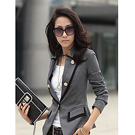 Women's Button Lapel Slim Cut Blazer