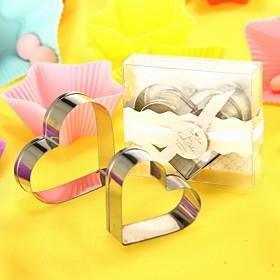 Heart Shaped Metal Cookie Cutter Set Wedding Favor (Set of 2)