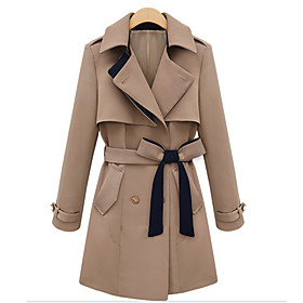 Women's Fashion Trench Coat With Bow Belt