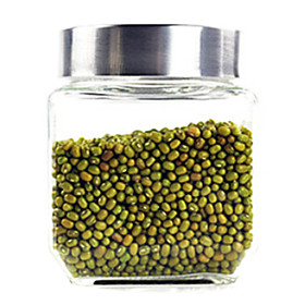 045L 43 Inch Height Glass Storage Jar with Plastic Lid
