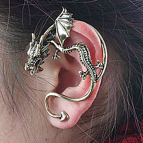 Women's Stud Earrings Ear Cuff Earrings Dragon