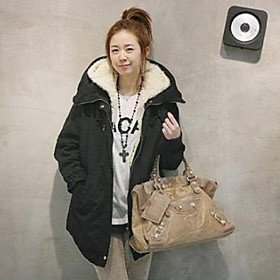 Women's Fleece Hoodie Coat