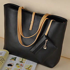 Europe Fashion Street Women Lady Handbag Soft Synthetic Leather Tote Purse Shoulder Bag