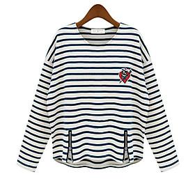 Stripe Batwing T-shirt manches Femmes