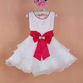 Dimand Bigbow robe de soirée pour enfants de fille