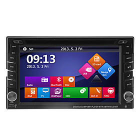 "6.2"" 2Din LCD Touch Screen In-Dash Car DVD Player with GPS,Bluetooth,iPod,ATV"