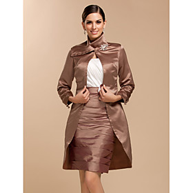 Wedding Wraps Coats/Jackets Long Sleeve Satin Wedding / Party/Evening plus size,  plus size fashion plus size appare