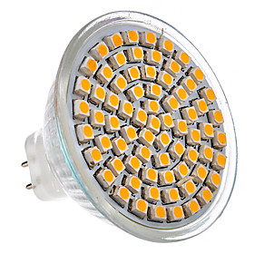 MR16 GU5.3 4.35W 72-LED 360-430LM 3000K Warm White Light LED Spot Bulb (12V)