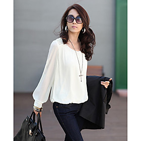 Rivet Puff Sleeve Blouse Donna