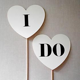 "Wedding Décor """"I DO"""" Heart Photography Props for"" 975213"
