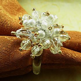 Crystal Napkin Ring, Acrylic