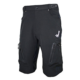 ARSUXEO Cycling Padded Shorts Men's Bike Breathable / Quick Dry / Waterproof Zipper Shorts / Baggy shorts / Bottoms Spandex / Polyester