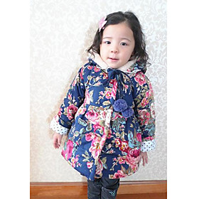 Pigens Floral Print Long Coat