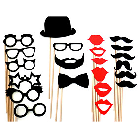 Wedding Décor Funny Mask Beard  Party Photography Photo Booth Props (22 Pieces) 975019