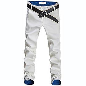 Men's Casual/Work Solid Skinny Chinos Pants