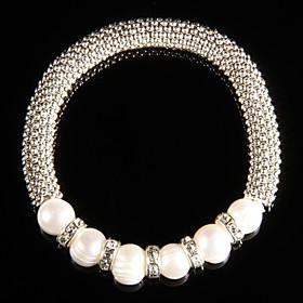 Modieuze legering met Pearl Dames armband