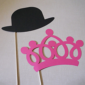 Wedding Décor CrownHat Photo Booth Props for (2 Pieces)