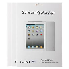 Tre Pezzi Pranzo Professional ad alta trasparenza LCD Screen Protector con panno di pulizia e Stylus per iPad Air