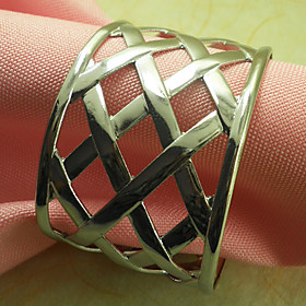Metal Wedding Napkin Ring Set of 12, Iron Dia 4.5cm