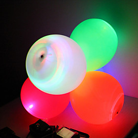LED Flashing Balloon Wedding Decoration - Set of 5 (More Colors)