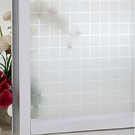 Modern Frosted Plaid Pattern Window Film