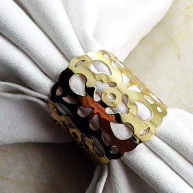 Flower Napkin Ring, Metal