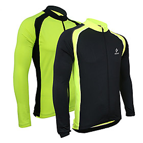 Arsuxeo Men's Cycling Jersey Bike Jacket / Jersey / Top Thermal / Warm, Quick Dry, Breathable Patchwork Polyester, Spandex, 100% Polyester 984470