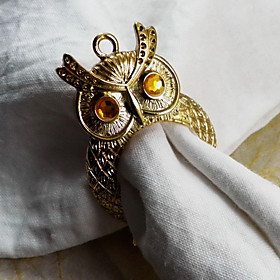 Owl Napkin Ring, Metal