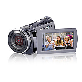 1280720P 5.0MP HD DV Camcorder (Motion Detection, 12.0 MP Enhanced, 5 x Zoom Lens)