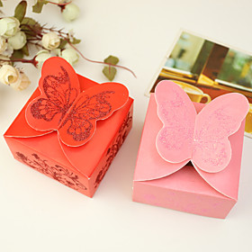 Butterfly Theme Favor Boxes - Set of 12 (More Colors)