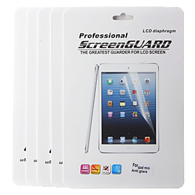 Five Pieces Packed Professional Anti-glare LCD Screen Protector with Cleaning Cloth and Stylus for iPad mini 2