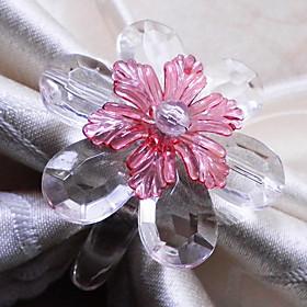 Crystal Daisy Napkin Ring, Set of 12, Acrylic Beads Dia3.5cm