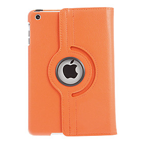 360 Degree Rotating Leather Case Cover Swivel Stand stylus Screen Protectors for iPad Mini (Assorted Color)