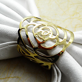 Rose Napkin Ring, Metal