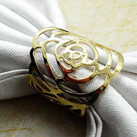 Rose Napkin Ring, Metal