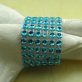 Crystal Napkin Ring Set of 6, Acrylic Dia 4.5cm