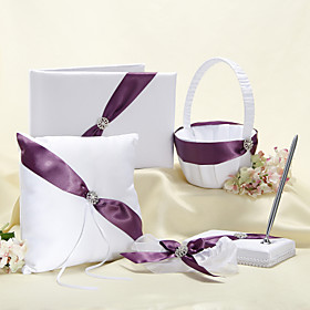 Splendor Wedding Collection Set med lilla Sash (5 stk)