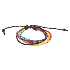 Europaische 16Cm Frauen'S Mehrfarbengewebe Wrap Armband (Multicolor) (1 PC)