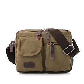 Men's Bags Canvas Shoulder Bag for Casual Brown / Green / Khaki