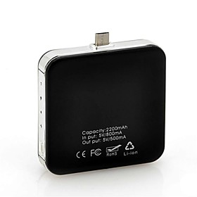 Solar Powered External 2200mAh Emergency Battery Charger with Micro USB Port for Cell Phone